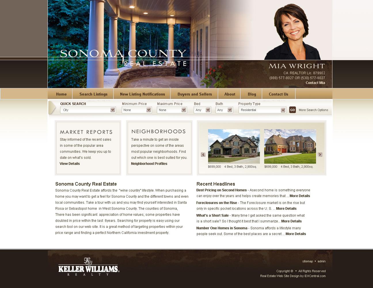wordpress real estate template  sonoma