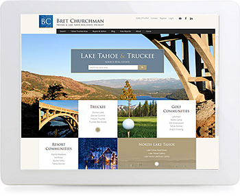 wordpress real estate design - portfolio - Bret Churchman