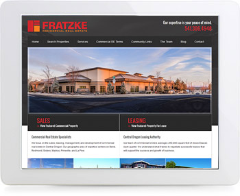wordpress real estate design - portfolio - Fratzke Commerial Real Estate