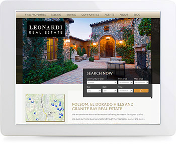 wordpress real estate design - portfolio - Leonardi Real Estate