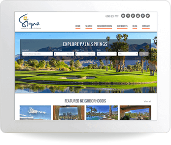real estate website example - Signe Beck