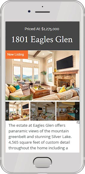 real estate wordpress theme - responsive phone view