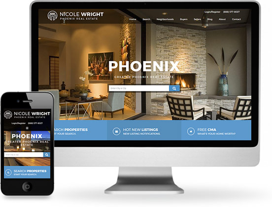 real estate website design screenshot