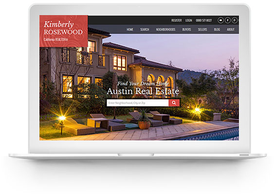 real estate website design wordpress screenshot