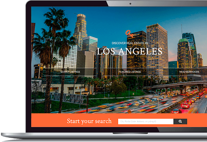 real estate website design laptop