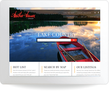 wordpress real estate website example - Heather Hauser
